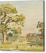 A View Of Chirk Castle, 1916 Canvas Print