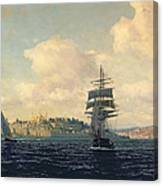 A View Of Constantinople Canvas Print