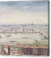 A View Of London From St Pauls To The Custom House, 1837 Canvas Print