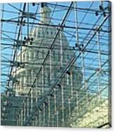 A View Of The Capitol From The Visitor Center Canvas Print