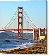 A View Of The Golden Gate Bridge From Baker's Beach  Canvas Print