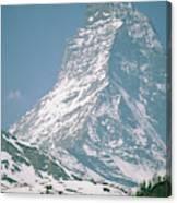 A View Of The Majestic Matterhorn Canvas Print