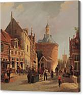 A View Of The Zuiderspui Canvas Print