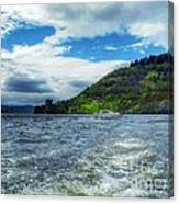 A View Of Urquhart Castle From Loch Ness Canvas Print