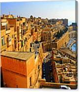A View Of Valletta's Waterfront Canvas Print