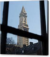 A View Out Of Faneuil Hall Canvas Print