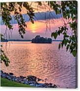 A View To A Sunset Canvas Print