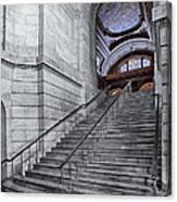 A View To The Mcgraw Rotunda Nypl Canvas Print