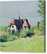 A Villa At Trouville Canvas Print