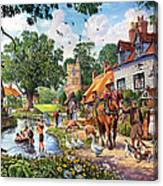 A Village In Summer Canvas Print