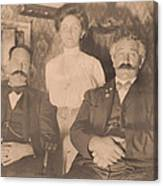 A Vintage Photo Of People Canvas Print