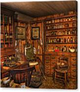A Visit To The Doctor's Office - Old Time Physician Office - Doctors - Pharmacists - Opticians Canvas Print