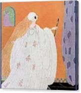 A Vogue Cover Of A Bride Canvas Print