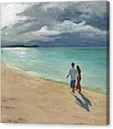 A Walk At Tumon Bay Guam Canvas Print