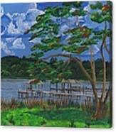 A Walk By Lake Clay Canvas Print