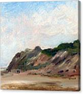 A Walk Down Cahoon Hollow Beach Canvas Print