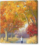 A Walk In The Fall Canvas Print