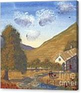 A Walk In The Hills Canvas Print