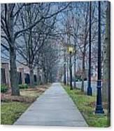 A Walk On A Sidewalk Street Alley Canvas Print