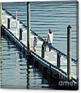 A Walk On The Pier Canvas Print