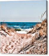 A Walk Out To The Water Canvas Print
