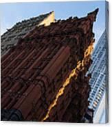 A Warm Slice Of Sunshine - Manhattan's Potter Building At Sunrise Canvas Print