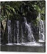 A Waterfall As Part Of An Exhibit Inside The Jurong Bird Park Canvas Print