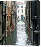A Waterway Of Venice  Canvas Print