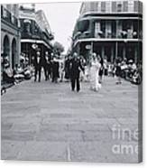 A Wedding In Jackson Square Canvas Print