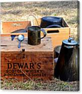 A Well Stocked Camp Canvas Print