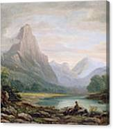 A Welsh Valley, 1819 Canvas Print