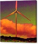 A Western Windmill Canvas Print