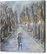 A Wet Evening Stroll Canvas Print