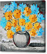 A Whole Bunch Of Daisies Selective Color II Canvas Print