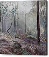 A Wickham Misty Morning Canvas Print