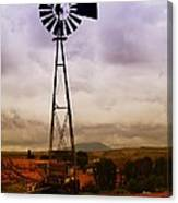 A Windmill And Wagon  Canvas Print