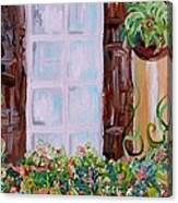 A Window View Canvas Print