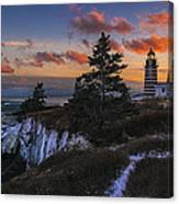 A Winter Dusk At West Quoddy Canvas Print
