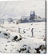 A Winter Landscape Holmstrup Canvas Print