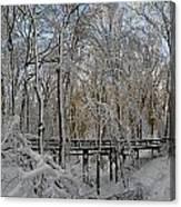 A Winter Scene Canvas Print