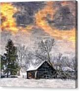 A Winter Sky Paint Version Canvas Print