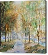 A Winter Walk Canvas Print