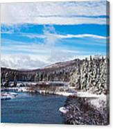 A Winter Wonderland On The Moose River Canvas Print