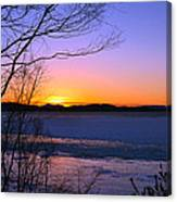 A Winters Horizon Canvas Print