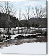 A Wintery Day In Vermont Canvas Print