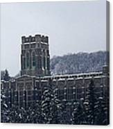 A Wintery View Of The Cadet Chapel At The United States Military Academy Canvas Print