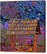 A Wishing Well Pop Art Canvas Print