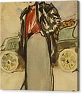 A Woman Driver Canvas Print