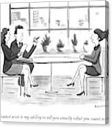 A Woman Interviews For A Job Canvas Print