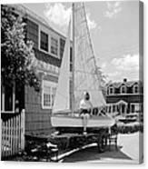 A Woman On Sailboat At Home Canvas Print